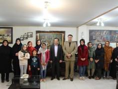 بازدید رئیس اداره فرهنگ و ارشاد اسلامی و رئیس گردشگری شهرستان نور از آموزشگاه نقاشی زنبق
