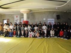 مراسم تجلیل از قهرمانان کاراته شهر چمستان برگزار شد+تصاویر